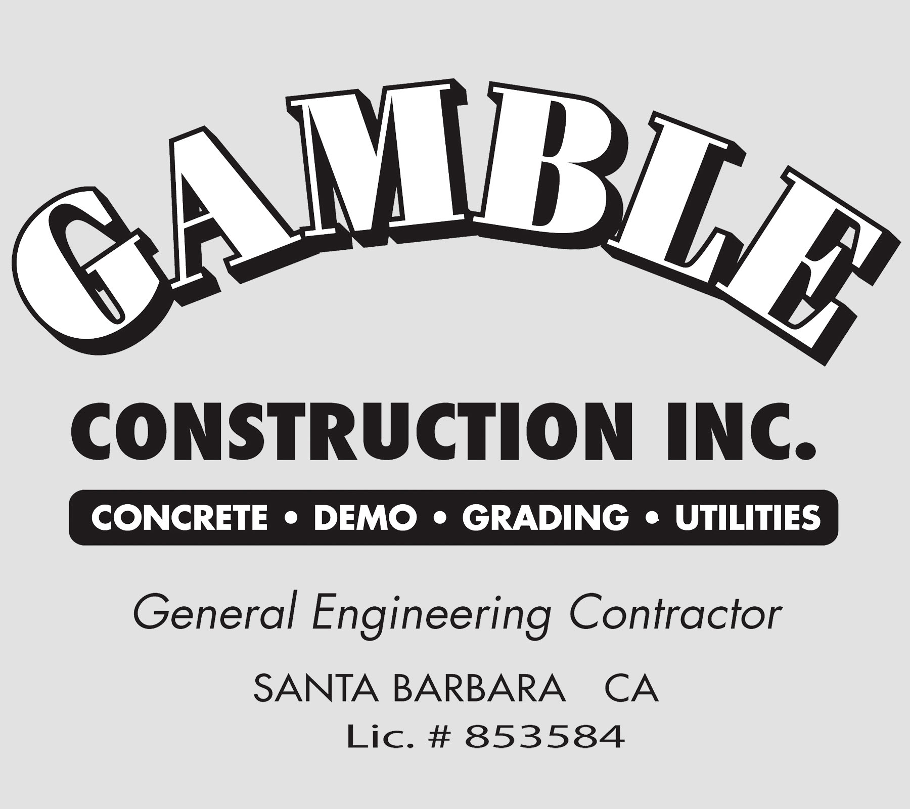 Gamble Construction Inc. Logo Photo Gallery